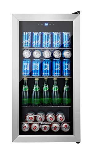 Kalamera 100 Can beer drink wine beverage fridge small under counter mini bar cooler Compressor Stainless steel door
