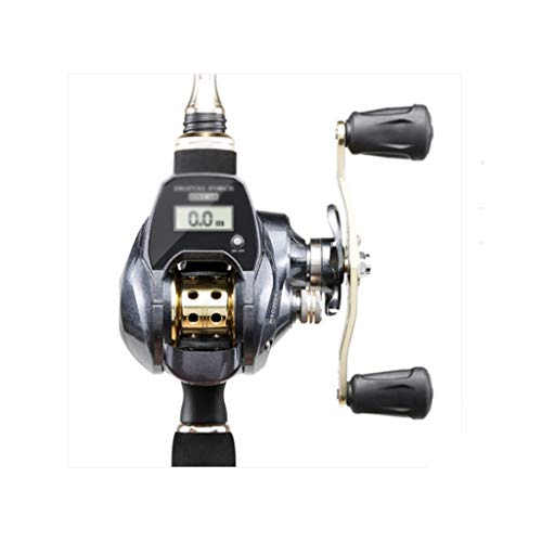 FJLDX Muestra Digital Rueda de conteo automático para Pesca de Pesca, Rueda de Gota magnética de Metal Completo de 18 Ejes (Color : Right-Handed)