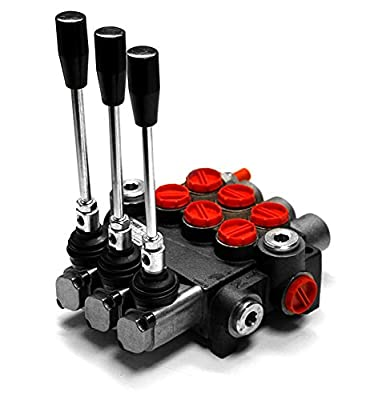 CHIEF Directional Control Valves (G Series): 10 GPM, SAE 10 Inlet/Outlet, 3 Spool, 3625 PSI, 1500-3625 PSI Relief Setting, SAE 8 Work Ports, 220908 by Bailey Hydraulics