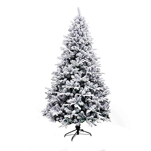 ALEKO CTS71H650 Deluxe Artificial Indoor Christmas Holiday Tree 6 Foot Snow Dusted