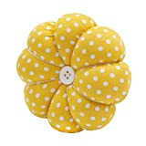 YISTA Wrist Pin Cushion Wearable Pumpkin Sewing Pin Cushions for Needlework (Yellow)