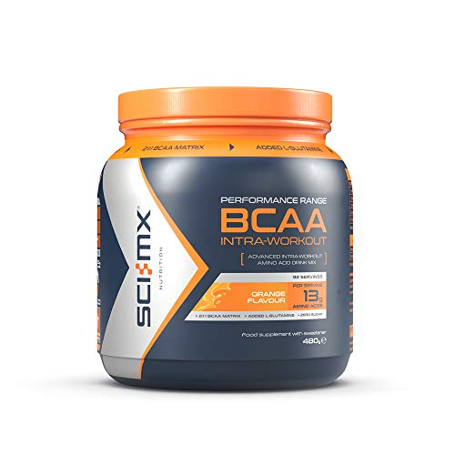 SCI-MX Nutrition BCAA Intra-Workout, Amino Acid Drink, 480 g, Orange, 32 Servings