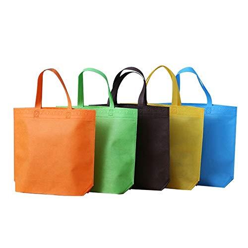 YMZ Wiederverwendbare Einkaufstaschen, langlebig, umweltfreundlich, für Obst, Gemüse, Einkaufen, Partys, Werbeartikel, 10 Stück