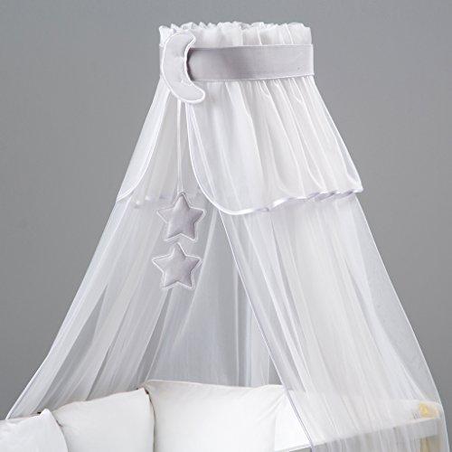 Ciel de lit/moustiquaire bébé + multicolores Décoration + support flèche de lit -...