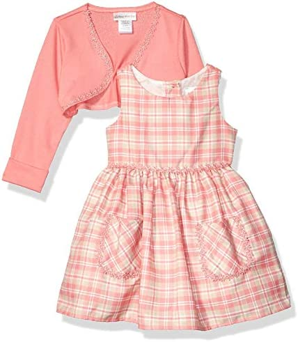 Sweet Heart Rose Baby Girls Cardigan Dress Coral Multi 3 6MO product image