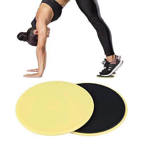 Tianhaik Deslizadores de Entrenamiento 2 Piezas Ejercicio Deslizante Deslizamiento Disco Núcleo Equilibrio Yoga Mat Fitness para Gimnasio en Casa
