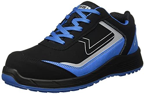 Paredes Hamilton, Zapato Industrial Hombre, Negro y Azul, 37 EU