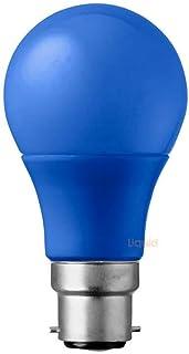 5 Watt Blue A60 GLS LED Light Bulb Bayonet Cap (B22) BC