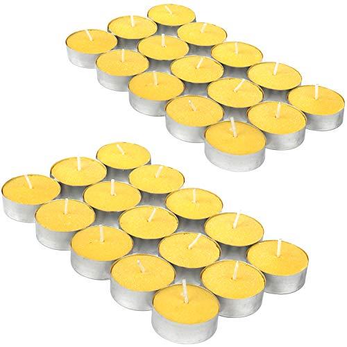 com-four® 30x Tealights - Candela Anti-zanzara al Profumo di Limone - Candela profumata per respingere Le zanzare e Gli Insetti (30 Pezzi - tealight)
