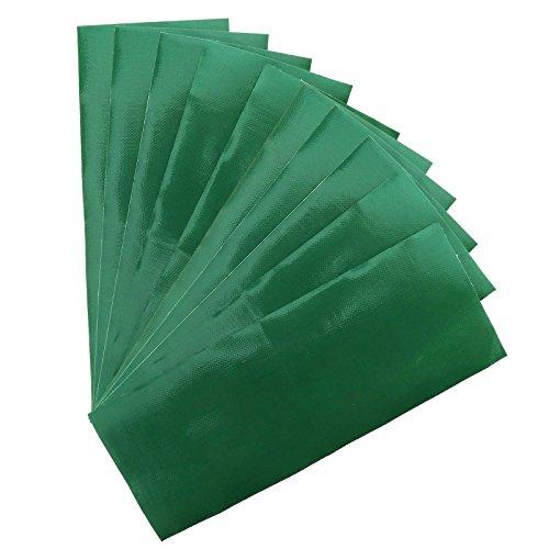 OTOTEC 10 Stück Grün Reparaturband Wasserdicht Patch Bänder Leinwand Zelt Vordach Butin Schleier Lenkrad Schutz