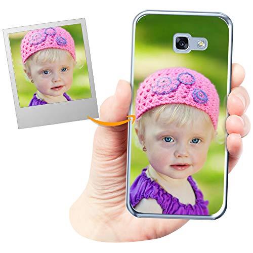 Coverpersonalizzate.it Cover Personalizzata per Samsung Galaxy A3 2017con la Tua Foto, Immagine o Scritta - Custodia Morbida in TPU Gel Trasparente - Stampa di altissima qualità