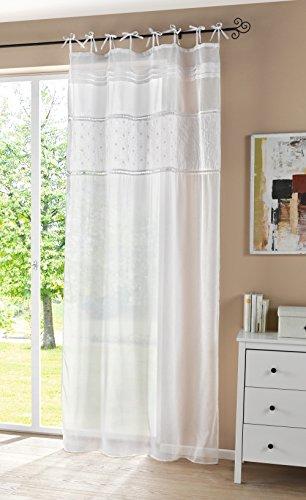 FRANK FLECHTWAREN Deko-Schal Cottage aus zart transparentem Stoff in feiner Leinenoptik und romantischer Paisleystickerei