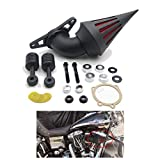 HTTMT MT226-BK Black Air Cleaner Kits Compatible with Harley Low Rider Touring Road King Electra Softail