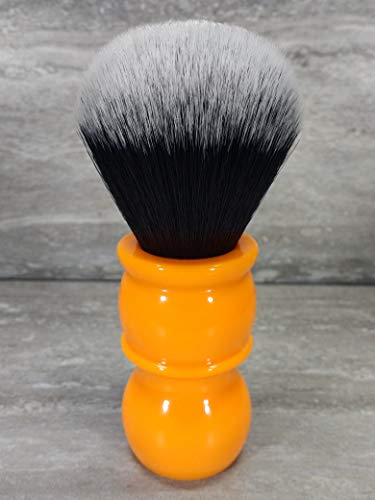 Yaqi 24MM Synthetischer Haar Gut Tuxedo Knot orange Griff Rasierpinsel R1710