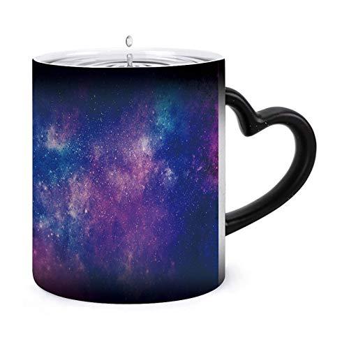 Fondo abstracto del espacio de la galaxia Tazas morphing de 11 oz Taza sensible al calor Taza de té de café que cambia de color de cerámica ndash Modelo22634