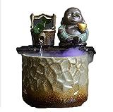 Fuente de Agua de Mesa Fuente de Agua de la Mesa de la Mesa de cerámica de los Regalos de la Apertura - CARACTERÍSTICA DE Agua RELAZANTE DE Desktop DE Zen Fuentes de Interior (Color : A)