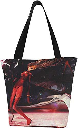 Evangelion Souryuu Asuka Langley - Bolsa reutilizable para la compra, color, talla Talla única