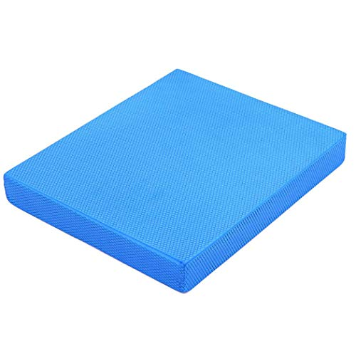 Strainho Non-Slip Gym Exercise Mat Balance Pad for Physical Therapy, Stability Workout, Knee and Ankle Exercise, Yoga,Strength Training, Rehab - Chair Cushion for Adults, Kids, and Travel(Blue)
