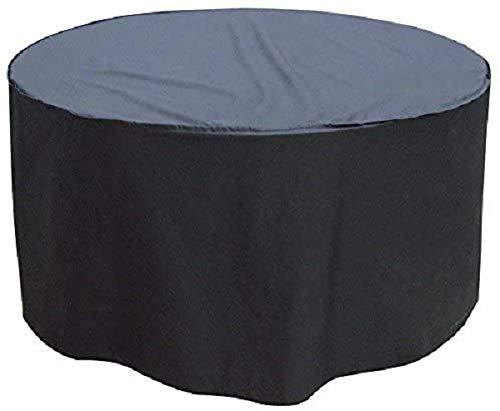 Bikain BI001PR-Funda Premium para Mesa Redonda Impermeable y Extremadamente Resistente, Negro, 107 x 71 cm