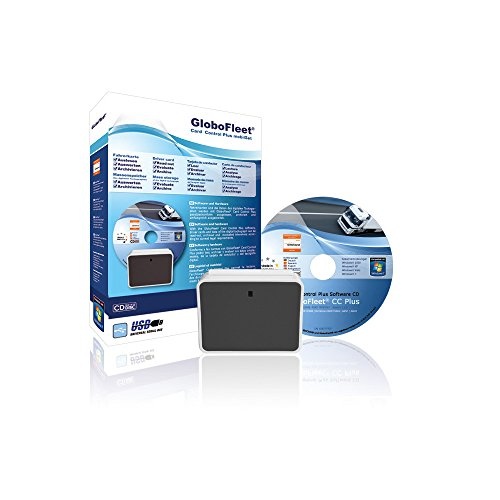 GloboFleet Card Control Plus Set Mobil, Starterset zum auslesen, auswerten und archivieren der Fahrerkarte mit Verstoßauswertung, Chipkartenleser - Mobilset