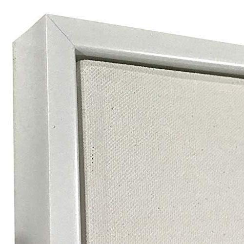 """White Floater Picture Frame 1 3/8"""" Deep, for 3/4"""" Canvas, (Different Sizes) (16x20"""")"""