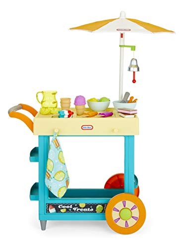 Little Tikes 2-in-1 Lemonade and Ice Cream Stand with 25 Accessories and Chalkboard for Kids Ages 2 Plus