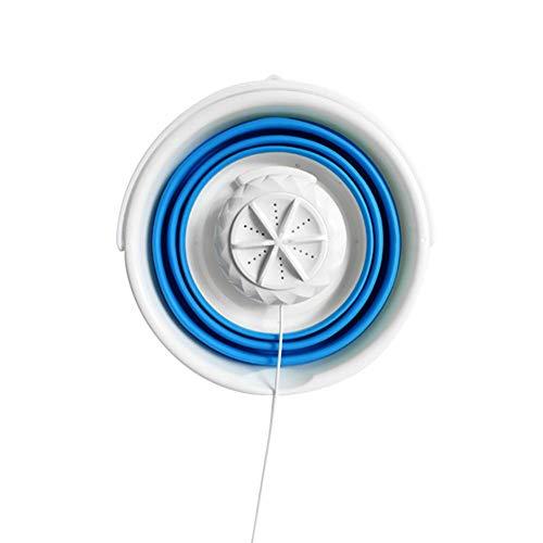 jinclonder Ultraschall Turbo Waschmaschine Studenten Schlafsaal Mini Unterwäsche Waschmaschine Faltschaufel Reise tragbare Ultraschall Vibrationseffekt von Ultraschall Vibration