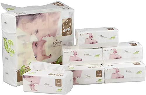 Cand 16 Packs Ultra Soft Facial Tissues, 4 Ply Tissues Packs, 1600 Counts