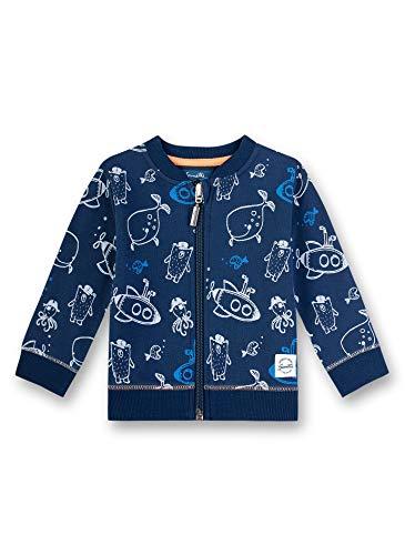 Sanetta Baby-Jungen Sweatjacke, Blau (Blau 50178), 74 (Herstellergröße: 074)