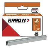 Arrow 160844 T25 Boîte de 1000 agrafes 14 mm pour câble ø 8 mm