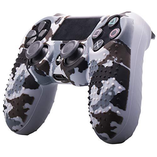 ETbotu - Carcasa de Silicona para Mando de Playstation 4 y PS4, diseño de Camuflaje
