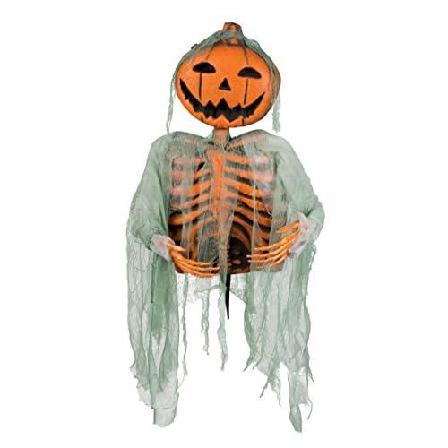 Boland- Decorazione Zucca Halloween Mr Pumpkin su Bacchetta, Arancione, 52 cm, 72028