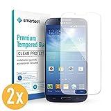 smartect Panzerglas kompatibel mit Samsung Galaxy S4 / S4 NEO [2 Stück] - Bildschirmschutz mit 9H Festigkeit - Blasenfreie Schutzfolie - Anti Fingerprint Panzerglasfolie