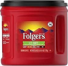 Folgers 1/2 Caff Medium Roast Ground Coffee, 25.4 Ounces