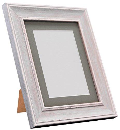 Frames By Post Scandi Vintage fotolijst Donkergrijze houder 60 x 80 Image Size 50 x 70 cm Distressed Blue