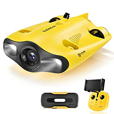 Mini Underwater Drone, 4K 1080P 12MP UHD Underwater Camera for Real Time Viewing, Remote Controller and APP Remote Control, Dive to 330ft, Live Stream, Adjustable Tilt-Lock, Fish Finder, Mini ROV