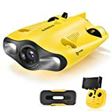gladius Mini Underwater Drone, 4K 1080P 12MP UHD Underwater Camera for Real Time Viewing, Remote Controller and APP Remote Control, Dive to 330ft, Live Stream, Adjustable Tilt-Lock, Fish Finder, ROV