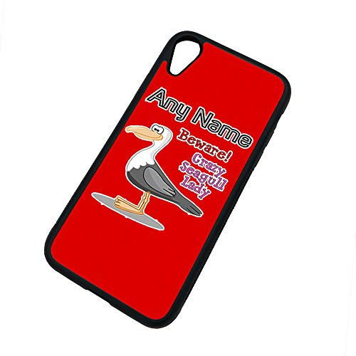 UniGift Coque en TPU pour iPhone X/XS/Xs Max/XR Motif mouette, TPU., Rouge, iPhone XR