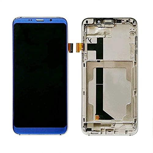 Kit de accesorios de repuesto para pantalla Bluboo S8 + montaje de pantalla táctil con repuesto Bluboo S8 + cinta de herramientas (color negro con marco)