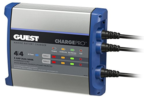 Guest On-Board Battery Charger 8A / 12V; 2 Bank; 120V Input, 2707A