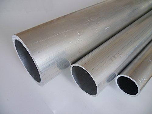 B&T Metall Aluminium Rundrohr, Ø 25,0 x 2,0 mm, Länge ca. 2,0 m | Konstruktionsrohr Alu AlMgSi0,5 F22 (EN-AW 6060), roh, unbehandelt, Hohl-Profil