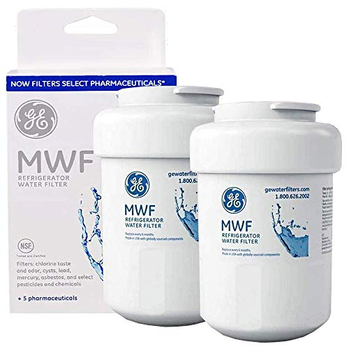 MWF Water Filter Replacement for GE Refrigerator Water Filter Compatible with GE SmartWater MWF, MWFP, MWFA,GWF, GWFA (2 Packs)