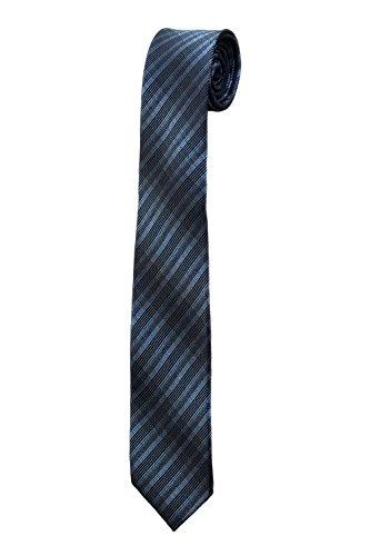 Oh La Belle Cravate Cravate fine slim rayure noir bleu dandy mariage DESIGN RTS