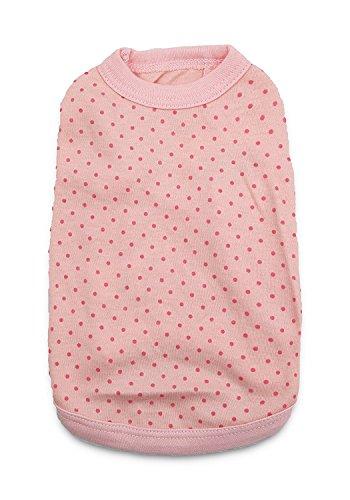 DroolingDog Pet Dog T Shirt Pink Dog Shirts Puppy Plain Blank Clothes for Small Dogs, Medium