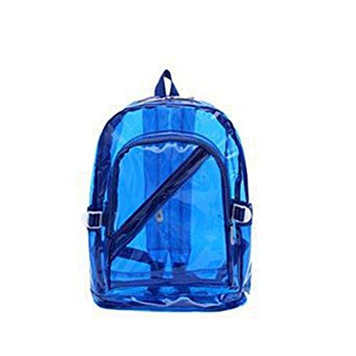 Tinksky Elegante Mochila Transparente Linda Escuela Hombro Bolsa de la taleguilla para los niños niñas (Azul)
