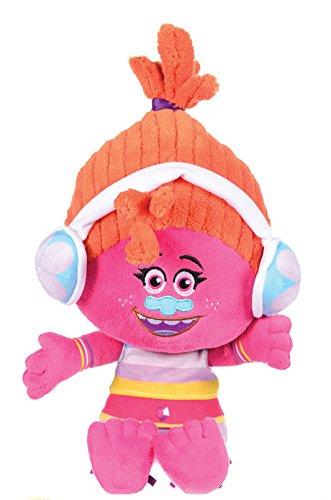 Trolls - Peluche Dj Suki 35cm, pelo naranja - Calidad super soft
