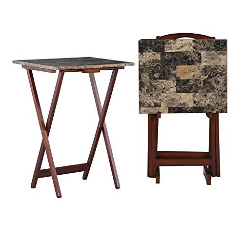 Linon Home Decor Tray Table Set