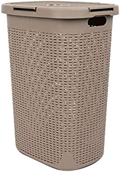 Mind Reader Basket Laundry Hamper With Cutout Handles