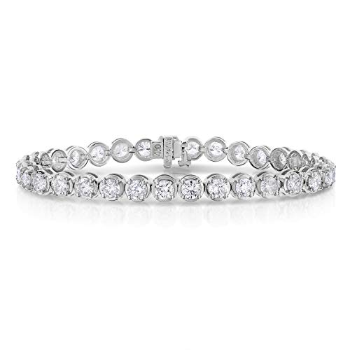 8 cttw Certified Classic Tennis Diamond Bracelet 14K White Gold I1-I2 Clarity H-I Color
