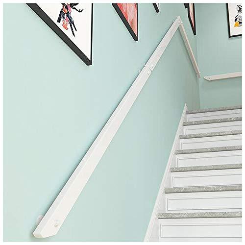 Pasamanos MAZHONG Escalera Blanco Simplicidad Moderna Barandilla De Escalera De Madera Maciza Antideslizante Barreras para Personas Mayores para Apartamentos, Hospitales, (Size:100cm)